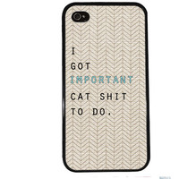 Cat Lady Case / Important Cat Shit To Do iPhone 4 Case iPhone 5 Case iPhone 4S Case iPhone 5S Case Cute Quote Tribal iPhone 5C s5 Aztec