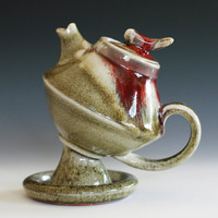 First Rose Teapot Handmade Porcelain Teapot by ocpottery on Etsy