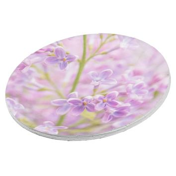 Lilac Flowers Mist Paper Plate