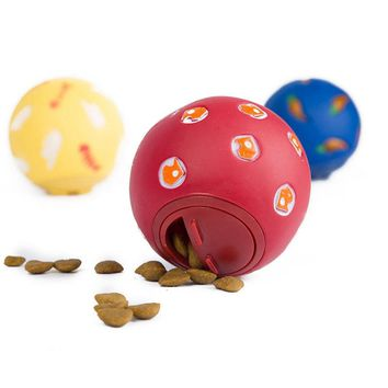 New 7.5 CM Snack Ball For Small Pet Dog Cat Rabbit Pig Hamster Treat Play Toys