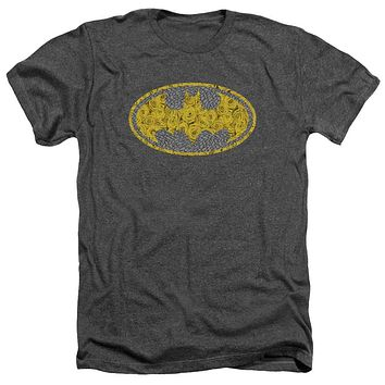 YELLOW ROSE BATMAN MEN'S TEE