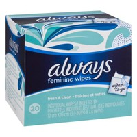 Always Feminine Wipes Fresh & Clean - 20 CT - Walmart.com