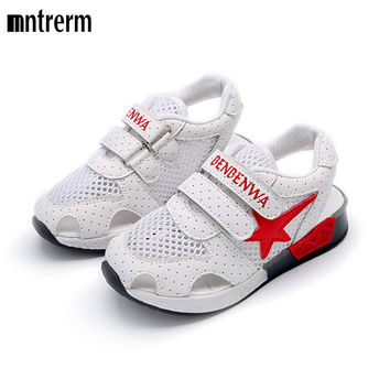 2017 The Spring And Summer Hot Sale Children Casual Yeezy Shoes Breathable Hollow Net Shoes Star Sneakers Shoes For Children