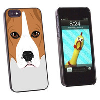 Graphics and More Beagle - Dog Pet Snap-On Hard Protective Case for Apple iPhone 5/5s - Non-Retail Packaging - Black