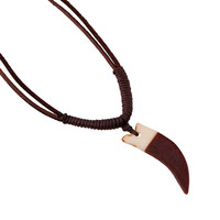 Gift Stylish Jewelry New Arrival Shiny Style Leather Men Vintage Chain Necklace [6526581635]