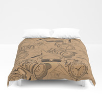 Lifestyle Pattern Duvet Cover by Berwies