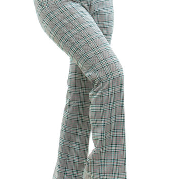 Vintage 70's That's Groovy, Oh Yeah Plaid Trousers - L