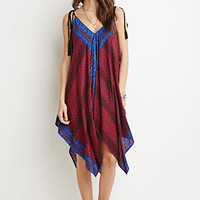 Scarf Print Trapeze Dress