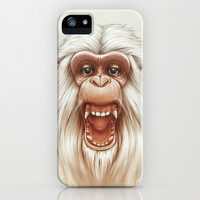 The White Angry Monkey iPhone & iPod Case by Dr. Lukas Brezak