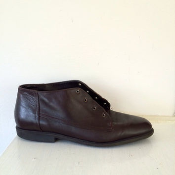 1980's Brown Leather Granny Boot (Vintage)