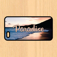Paradise Beach Sunset Text Art Print Cell Phone Case iPhone 4/4s 5/5c 6/6+ Case and Samsung Galaxy S3/S4/S5