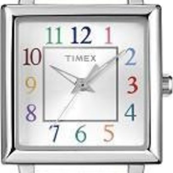Timex Womens White Strap Elevated Classics Watch