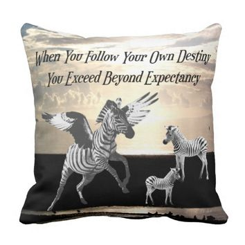 Destiny Quote by Kat Worth Throw Pillow