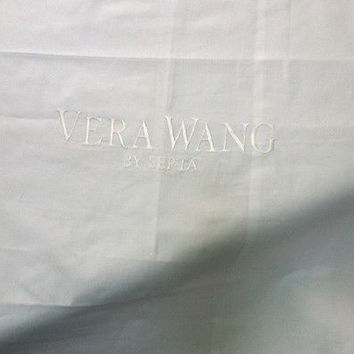 "Embroidered  ""Vera Vera Wang by Serta"" Solid White Euro Pillow Sham"