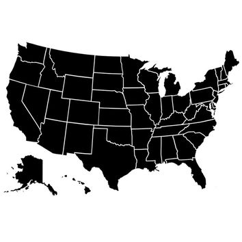 Shop United States Of America Map On Wanelo - Us country map