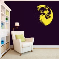 Wall Decal Vinyl Sticker Decals Art Decor Design Moon Solar Sisten Sun Sky  Nursery Kids Children Dream Family Love Bedroom Gift  (r528