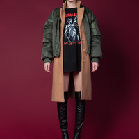 Two Layered Bomber Coat