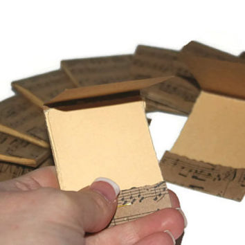 Matchbook Music Notepads- Mini- Note Pads - Set of 6