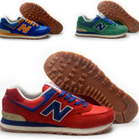 """New balance""Fashionable Women/Men comfortable leisure sports shoes Red Blue Green"