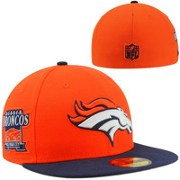 Denver Broncos New Era 59Fifty Patched Team Redux Fitted Hat - Orange