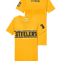 Pittsburgh Steelers Bling V-neck Tee - PINK - Victoria's Secret