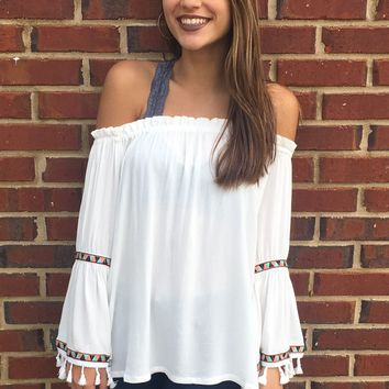 Tribal Top- White