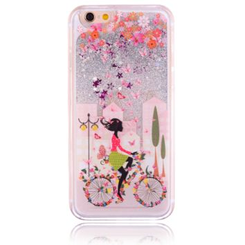Unique shining sand cycling girl Phone Case Cover for Apple iPhone 7 7 Plus 5S 5 SE 6 6S 6 Plus 6S Plus + Nice gift box! LJ160927-005