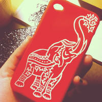 Elephant iphone 4/4s/5 case by CasesbyCatherine on Etsy