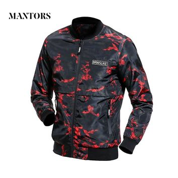 Men Casual Camouflage Jacket New Outwear Waterproof Hoodie Coat Men's Camo Thin Zipper Bomber Jackets Male Outerwear