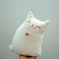 Plush Cat, Cat Softie, Toy cat, Cat Doll, Home decor cat - Kitty Snow