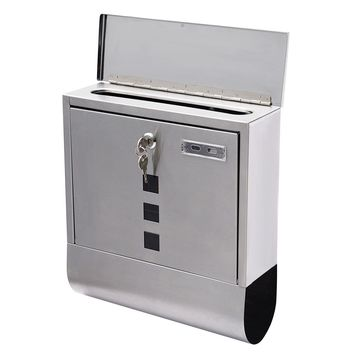 Wall Mounted Steel Mail Box with Newspaper Roll This locking wall mounted mailbox with newspaper roll is ideal for users to receive mail and all kinds of bills.