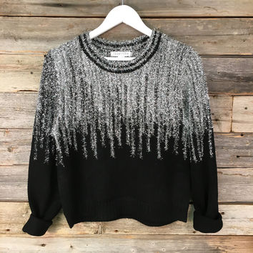 GLAM SWEATER - BLK *SILVER*