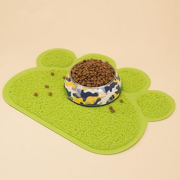 New Pet Dog Cat Litter Mat Puppy Kitty Dish Feeding Bowl Placemat Tray Tidy Easy Cleaning Sleeping Pad
