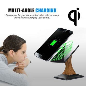Phone Accessories 2017 Qi Wireless Charger Charging Stand Dock for Samsung Galaxy S7 / S7