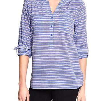 Gap Women Factory Convertible Popover Shirt