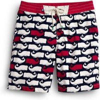Sperry Top-Sider Whale Print Board Short Navy/RedWhales, Size 38  Men's