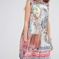 Replay Map Print Smock Dress at asos.com