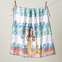Merfolk Dishtowel by Anthropologie