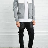 Colorblock Scuba Knit Bomber