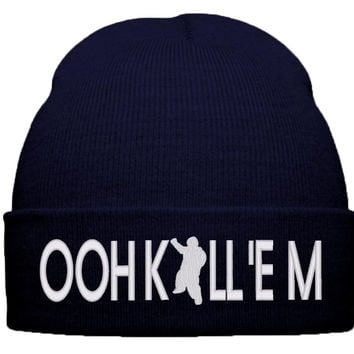 ooh kill em beanie winter knit hat
