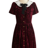Dear Creatures Vintage Inspired Mid-length Short Sleeves A-line Gracious Girl Dress