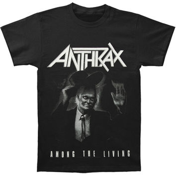 Anthrax Men's  Among The Living T-shirt Black Rockabilia