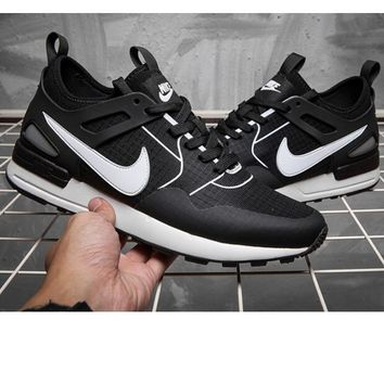 """""""NIKE""""AIR Huarache Running Sport Casual Shoes Sneakers white soles Black-white(5 color"""