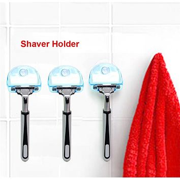 Shaver Toothbrush Holder Washroom Wall Sucker Suction Cup Hook Razor Bathroom Racks Shelves Organization