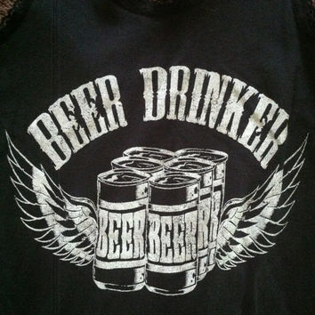 beer drinker lace tank top six pack angel wings i love beer slim fit