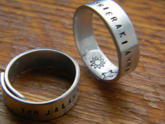 game of thrones inspired TWO wrap rings ''my sun and stars'' &'' moon of my life'' DOTHRAKI