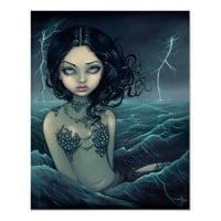 Sea Storm gothic mermaid Art Print from Zazzle.com