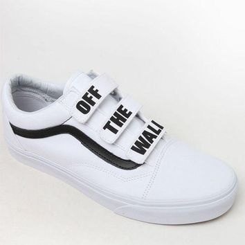 DCCKJH6 Vans Off The Wall Old Skool V White and Black Shoes