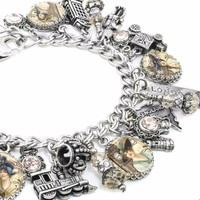 London Charm Bracelet, British Jewelry, English Bracelet