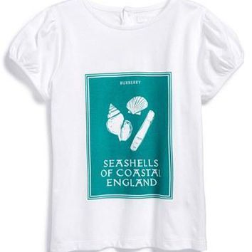 Infant Girl's Burberry 'Coastal England' Cotton T-Shirt